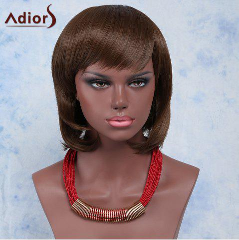 New Sweet Short Haircut Synthetic Brown Natural Wave Capless Adiors Wig For Women BROWN