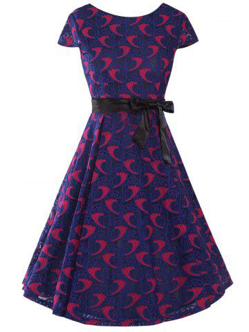 Fancy Bowknot Decorated Lace Dress