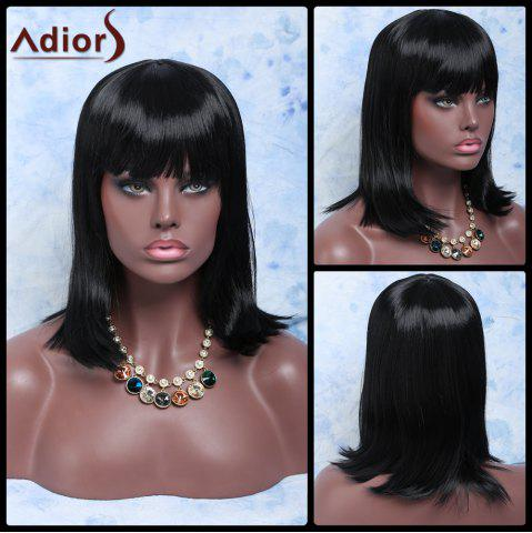 Best Adiors Hair Medium Full Bang Straight Synthetic Wig