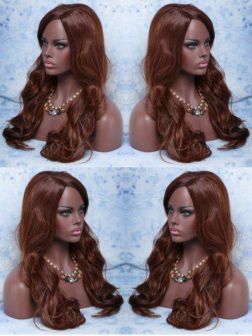 Cheap Long Side Parting Wavy Synthetic Wig