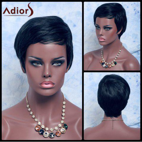 New Adiors Hair Mixed Color Short Straight Synthetic Wig COLORMIX