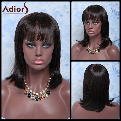 Unique Adiors Hair Medium Neat Bang Straight Synthetic Wig