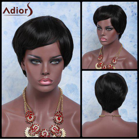 Fashion Adiors Hair Short Oblique Bang Straight Synthetic Wig
