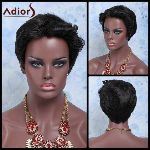 Fancy Adiors Hair Short Boy Cut Curly Synthetic Wig