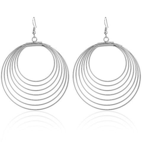 Outfit Multilayered Circle Earrings SILVER