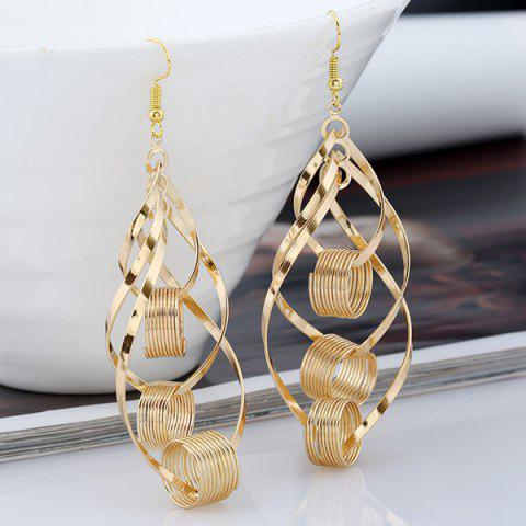 Online Hollow Out Leaf Circle Earrings