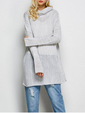 Sale Cowl Neck Thumb Hole Long Sweater