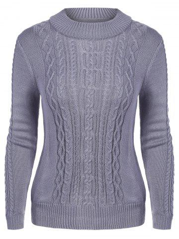 Buy Mock Neck Cable Knit Chunky Sweater