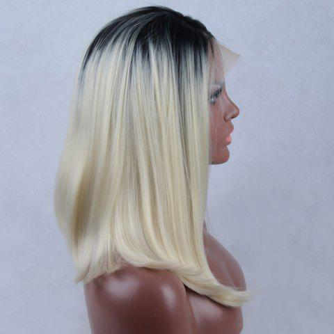 Affordable Long Side Parting Straight Colormix Lace Front Synthetic Wig - COLORMIX  Mobile