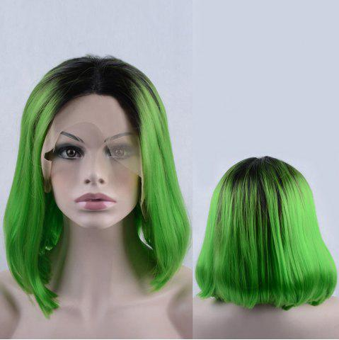 New Medium Side Parting Colormix Bob Lace Front Synthetic Wig