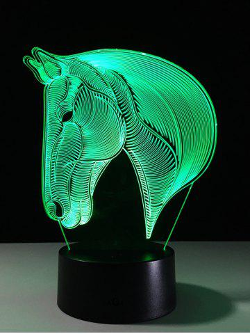 Best 7 Color Changing LED 3D Horse Touch Atmosphere Night Light - COLORFUL  Mobile