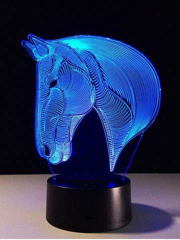 Chic 7 Color Changing LED 3D Horse Touch Atmosphere Night Light - COLORFUL  Mobile