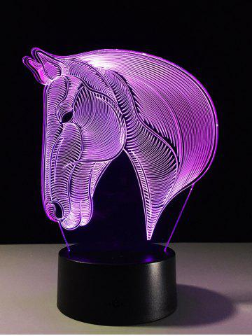 Sale 7 Color Changing LED 3D Horse Touch Atmosphere Night Light - COLORFUL  Mobile
