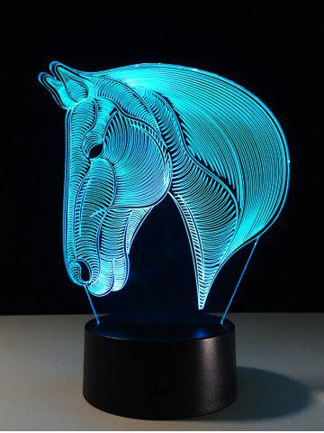 Hot 7 Color Changing LED 3D Horse Touch Atmosphere Night Light - COLORFUL  Mobile