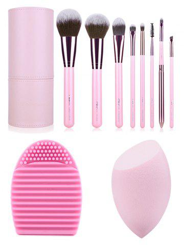 Outfits 8 pcs Makeup Brushes Kit + Brush Egg + Makeup Sponge