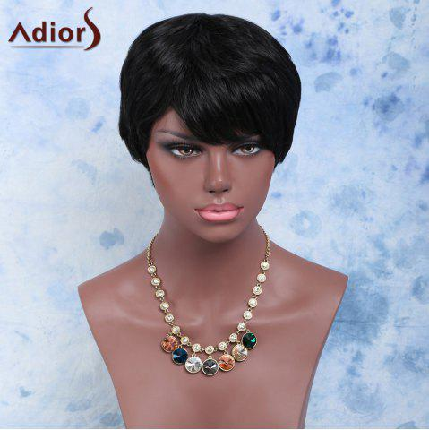 Shops Endearing Short Straight Capless Synthetic Wig