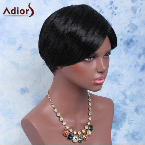 Chic Short Outstanding Full Bang Straight Synthetic Wig BLACK