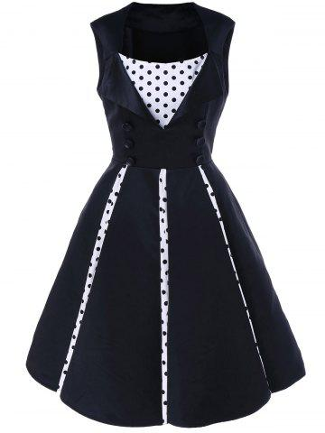 Chic Fit and Flare Polka Dot Vintage Dress