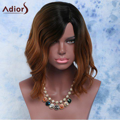 New Mixed Color Side Parting Short Straight Women's Fashion Synthetic Hair Wig