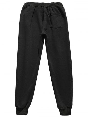 Shops Faux Fur Pocket Hoodie with Track Pants - 3XL BLACK Mobile