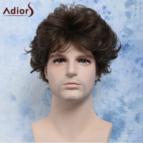 Shop Curly Manly Short Heat Resistant Fiber Men's Wig
