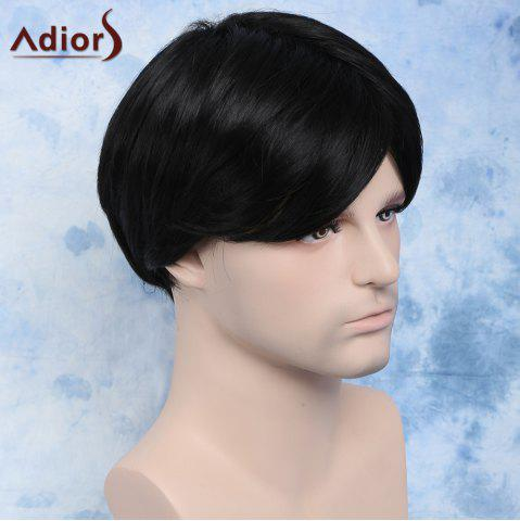 Shops Handsome Straight Synthetic Short Side Bang Men's Wig - BLACK  Mobile