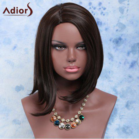 Outfit Fashion Short Straight Dark Brown Centre Parting Women's Synthetic Hair Wig