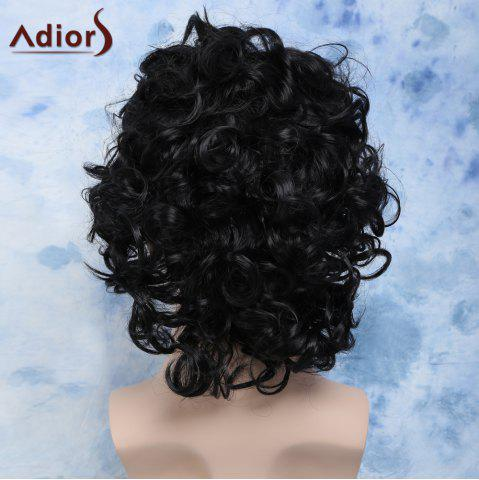 Discount Men's Short Curly Cosplay Synthetic Wig - BLACK  Mobile