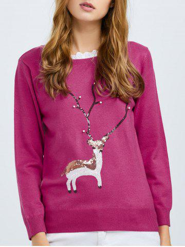 Affordable Sequin Knit Pullover Sweater