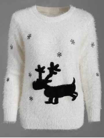 Discount Christmas Pullover Fuzzy Sweater