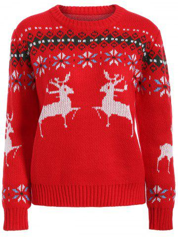 Online Fawn Graphic Christmas Textured Sweater