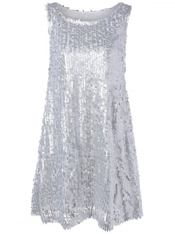 Outfit Glitter Sleeveless Sequined Mini Dress