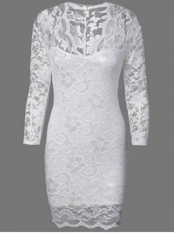Latest Floral Lace Skinny Slimming Dress