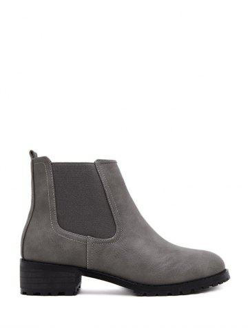 Online Round Toe Elastic Ankle Boots