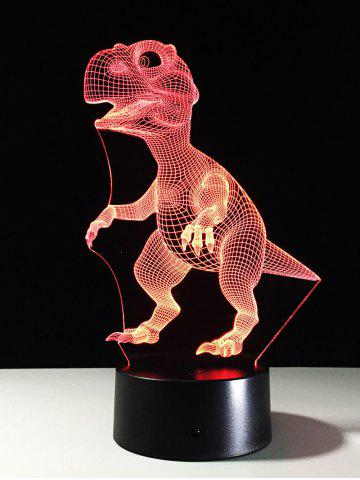 Hot Best Gift 7 Color Changing LED Dinosaur Touch 3D Night Light
