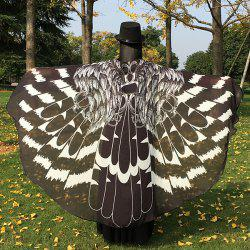 Feather Printed Butterfly Chiffon Wing Cape