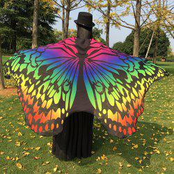 Colorful Ombre Butterfly Wing Chiffon Cape