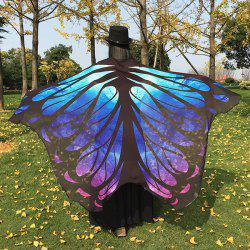 Galaxy Butterfly Wing Chiffon Cape - BLUE