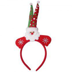 Santa Claus Snowflake Christmas Hairband - RED
