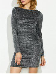 Long Sleeve Lurex Dress -