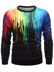 Long Sleeve Paint Dripping Sweatshirt