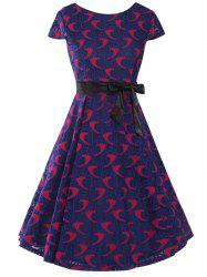 Bowknot Decorated Lace Dress -