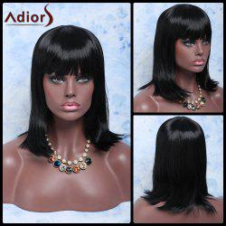 Adiors Hair Medium Full Bang Straight Synthetic Wig -