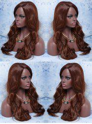 Long Side Parting Wavy Synthetic Wig -