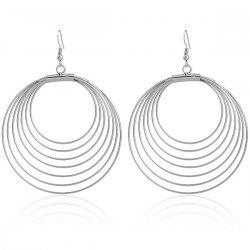 Multilayered Circle Earrings