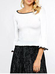 Pullover Bell Sleeve Knit Sweater -