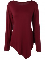 Asymmetric Long Sleeves Tunic T-Shirt