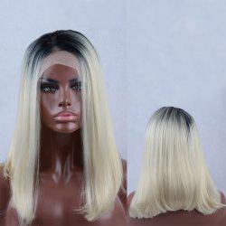 Long Side Parting Straight Colormix Lace Front Synthetic Wig -