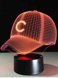 LED Colorful Gradient Touch Switch 3D Baseball Cap Night Light