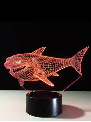 3D Visual 7 Color Change LED Shark Touch Switch Night Light